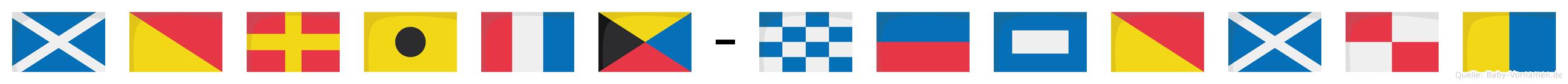 Moritz-Nepomuk im Flaggenalphabet