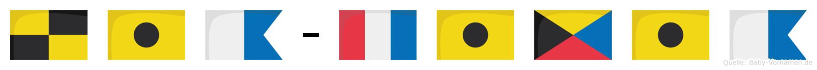 Lia-Tizia im Flaggenalphabet