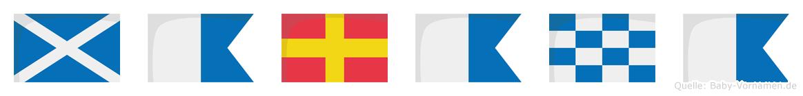 Marana im Flaggenalphabet
