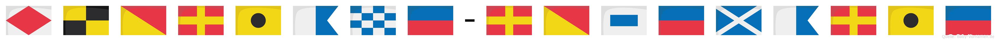 Floriane-Rosemarie im Flaggenalphabet