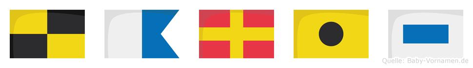 Laris im Flaggenalphabet