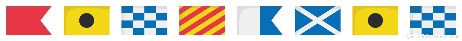 Binyamin im Flaggenalphabet