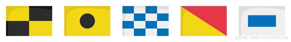 Linos im Flaggenalphabet
