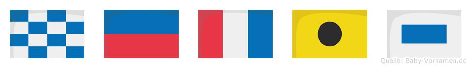 Netis im Flaggenalphabet
