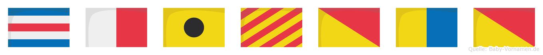 Chiyoko im Flaggenalphabet