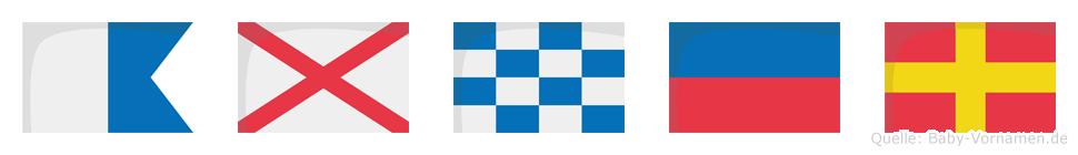 Avner im Flaggenalphabet