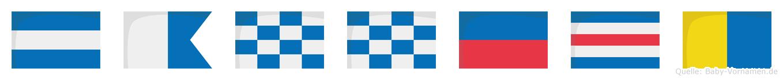 Janneck im Flaggenalphabet