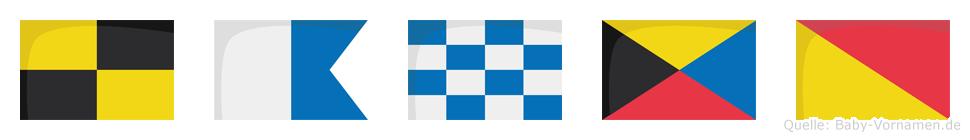 Lanzo im Flaggenalphabet