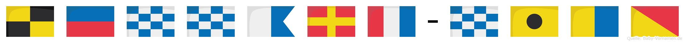Lennart-Niko im Flaggenalphabet