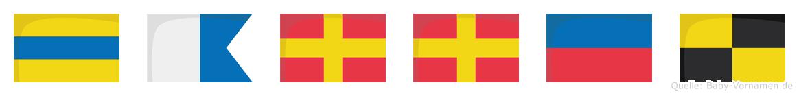 Darrel im Flaggenalphabet