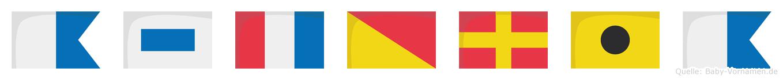 Astoria im Flaggenalphabet