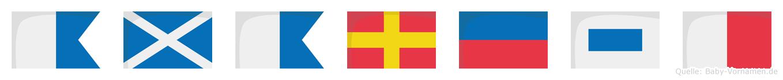 Amaresh im Flaggenalphabet