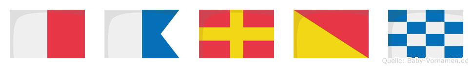 Haron im Flaggenalphabet