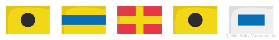 Idris im Flaggenalphabet