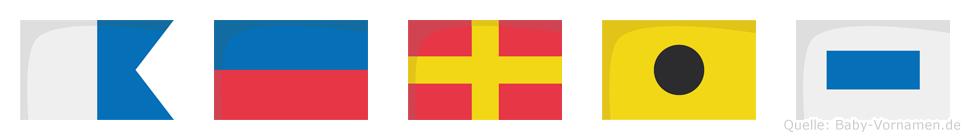 Aeris im Flaggenalphabet