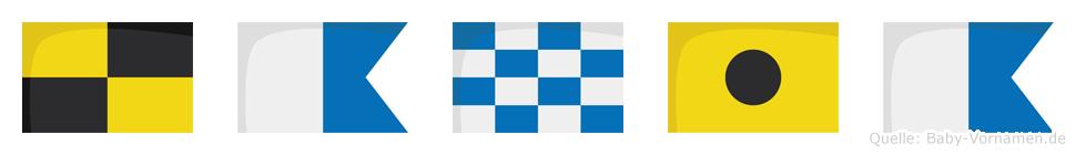 Lania im Flaggenalphabet