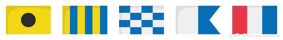 Ignat im Flaggenalphabet