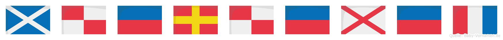 Mürüvet im Flaggenalphabet