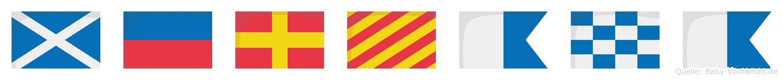 Meryana im Flaggenalphabet