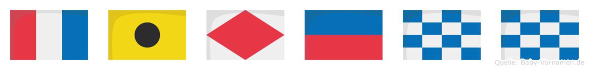 Tifenn im Flaggenalphabet