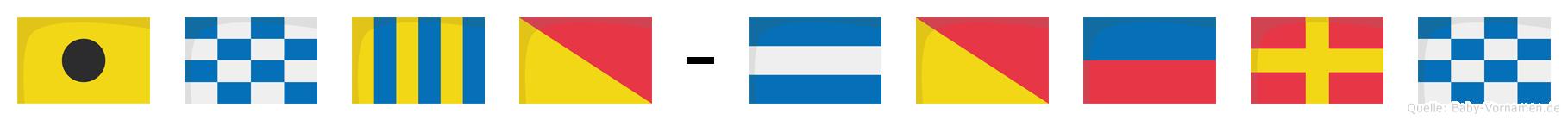 Ingo-Jörn im Flaggenalphabet