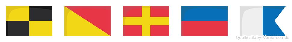 Lorea im Flaggenalphabet