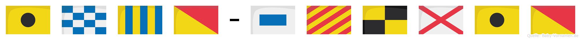 Ingo-Sylvio im Flaggenalphabet