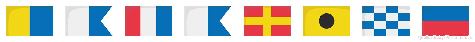 Katarine im Flaggenalphabet
