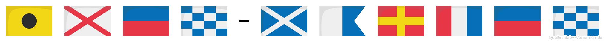 Iven-Marten im Flaggenalphabet