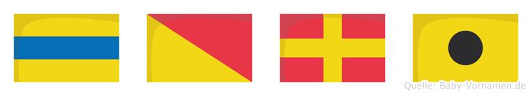 Dori im Flaggenalphabet