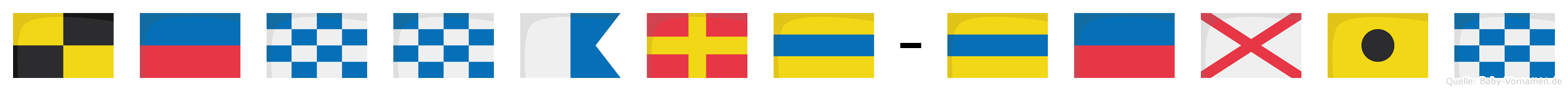 Lennard-Devin im Flaggenalphabet