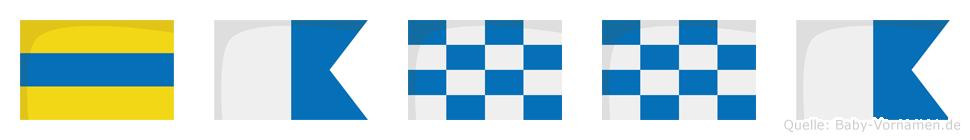 Danna im Flaggenalphabet