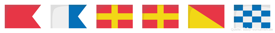 Barron im Flaggenalphabet