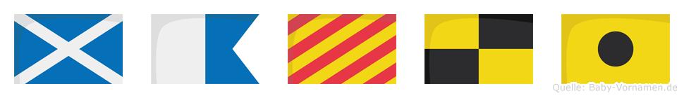 Mayli im Flaggenalphabet