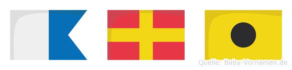 Ari im Flaggenalphabet