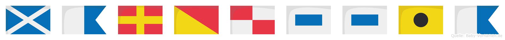 Maroussia im Flaggenalphabet