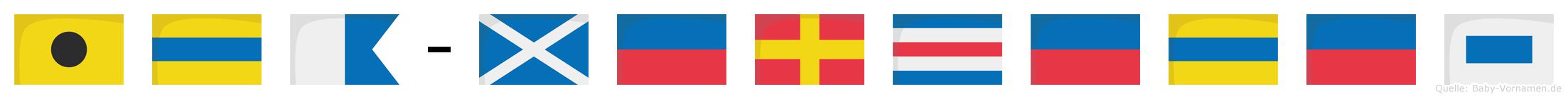 Ida-Mercedes im Flaggenalphabet