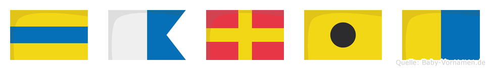 Darik im Flaggenalphabet