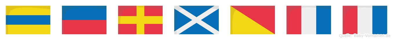 Dermott im Flaggenalphabet