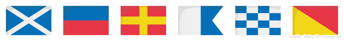 Merano im Flaggenalphabet