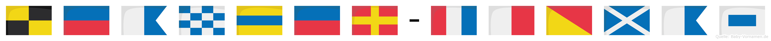 Leander-Thomas im Flaggenalphabet