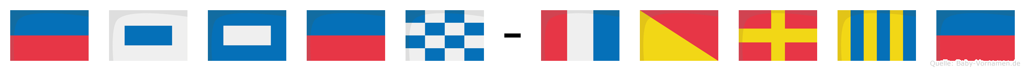Espen-Torge im Flaggenalphabet