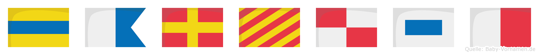 Daryush im Flaggenalphabet