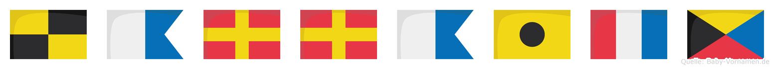 Larraitz im Flaggenalphabet
