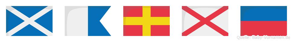 Marve im Flaggenalphabet