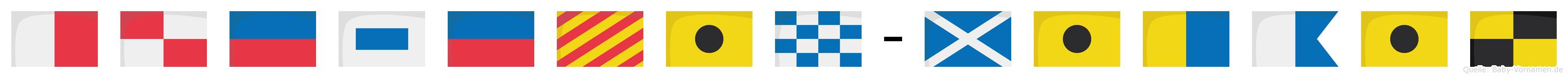 Hüseyin-Mikail im Flaggenalphabet