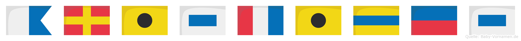 Aristides im Flaggenalphabet