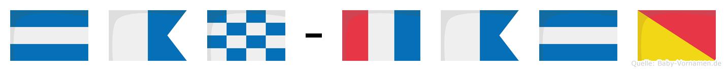 Jan-Tajo im Flaggenalphabet