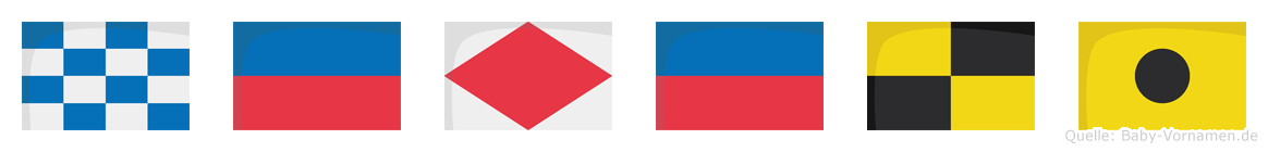 Nefeli im Flaggenalphabet
