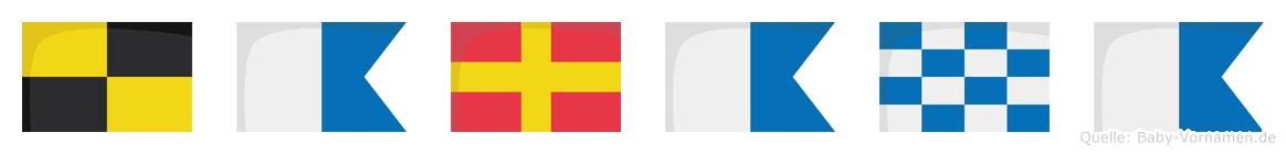 Larana im Flaggenalphabet
